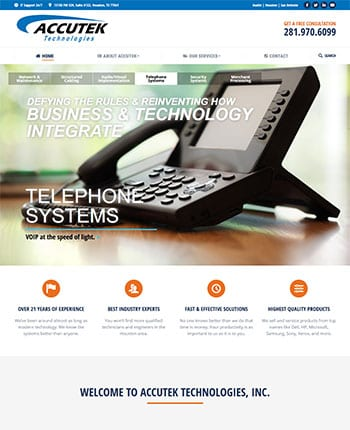 website for technology company