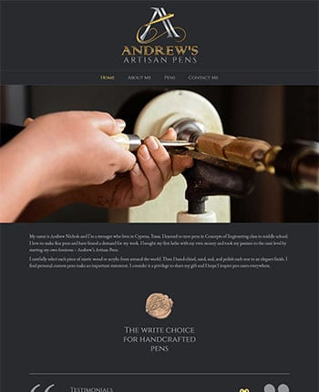 Websites for fountain pen makers