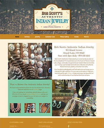 Website for jewelry store