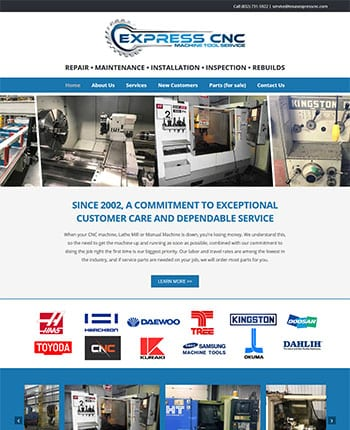 CNC repair service website