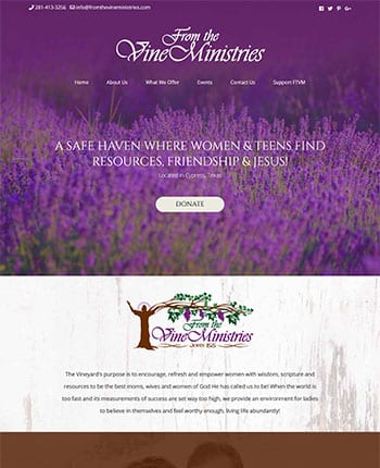 Christian ministry website