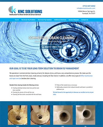 web design for drain cleaning company