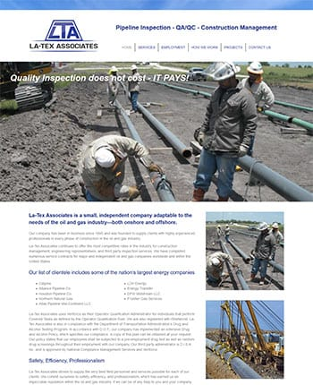 webdesign for oil & gas company
