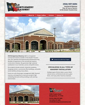 Website for a masonry company