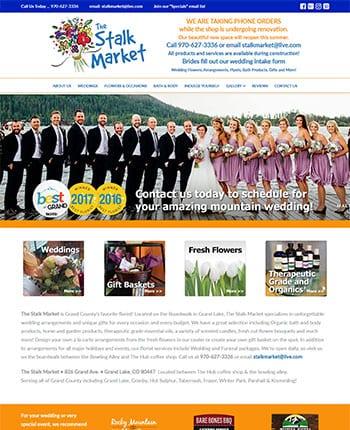 Web site for a florist