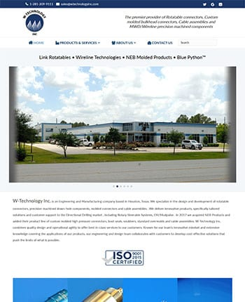commercial production website design